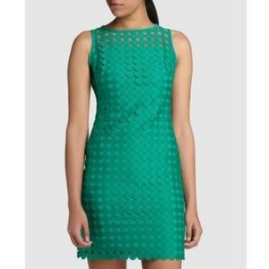 Lauren Ralph Lauren Kelly Green Mod Dot Dress